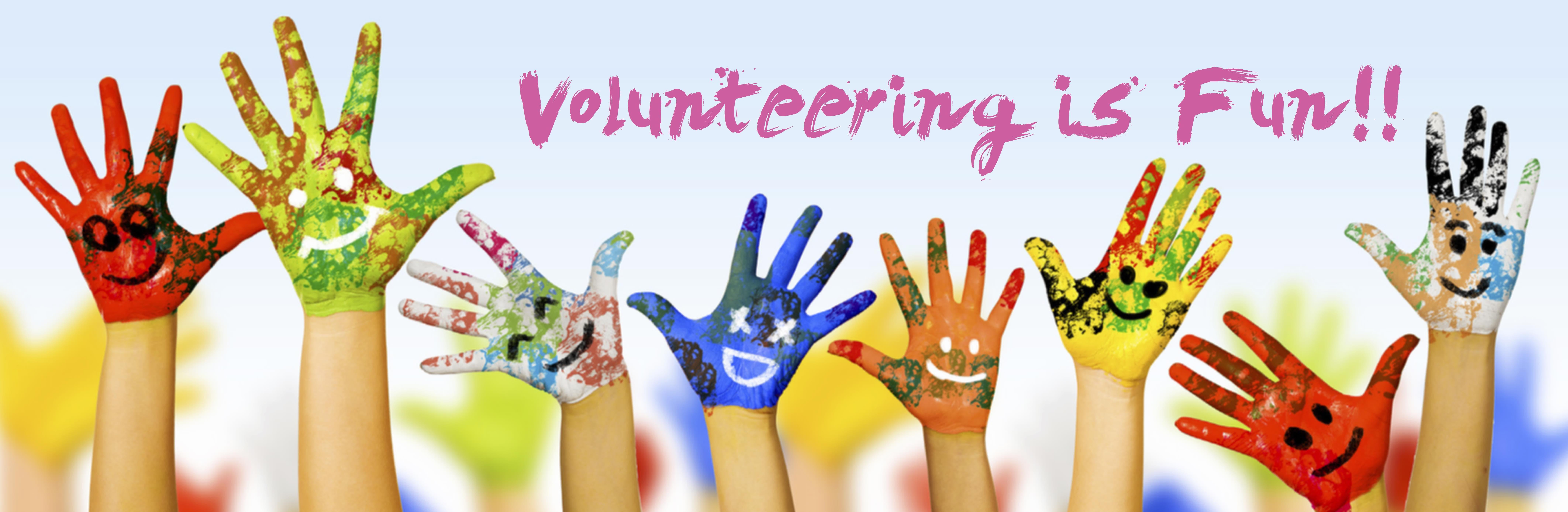 volunteering is fun painted hands concept z home property
