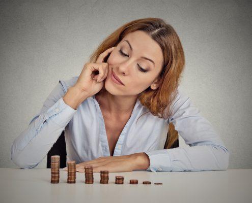 Pondering woman